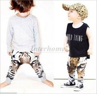 baby sweatpants - Kids D Tiger Harem Pants Fashion Ins Trousers Baby D Tiger Haroun Pants Printed Casual Animal Trousers Bottoms Slacks Sweatpants B397