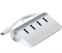 Wholesale Del High Speed Ports USB Type C to USB Hub Portable Aluminum for Macbook New Mar08
