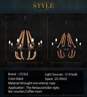 Wholesale Vintage pendant lights For home industrial lighting bedroom restaurant Lamparas de techo colgante wrought iron pendant lamp
