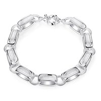 amp ring - Brand New Fashion Bracelets Classic Geometric Shaped Silver Plated Link Chain Chain amp Link Bracelets SYLSPCH416