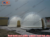 Wholesale Giant party tents transparent dome camping tent inflatable white bubble tent for sale