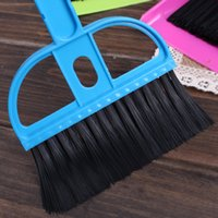 Wholesale Creative thicken plastic desk cleaning set mini desktop keyboard cleaning brush brush with a small broom dustpan