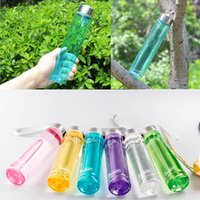 Wholesale Creative Bright Steel cover Transparent Straight plastic Cup lid Student couples Portable Leakproof Readily cup