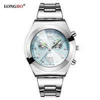 Wholesale Longbo Luxury Women Watch Ladies Quartz Strap Wristwatch Stainless steel business casual and fashion dress watches female