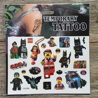 america arms - New Lego Movie Avengers Temporary Tattoos Cartoon Captain America Tattoos Sticker for Kids Birthday Party Decoration Supplies