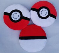 Wholesale 35 cm Poke Ball Figures Plush dolls toys Pillow children cartoon Pikachu Poke Ball Plush dolls toy