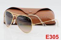 beach goggles - 1pcs Hot Sale Mens Womens Pilot Gradient UV400 Sunglasses Designer Sun Glasses Gold Brown Blue Grey mm Glass Lenses Original Cases Box