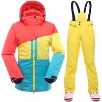 Wholesale 2016 New Ski Suit Women waterproof winter suits for women jacket pants snow sets thicken breathable snowboard Women s ski suit