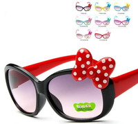 Wholesale New colors Cartoon big butterfly knot color children s Sunglasses lovely Mickey Sunglasses UV protection sunglasses