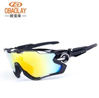 Wholesale OBAOLAY Polarized bicycle sunglasses men women outdoor ride bike glasses Jawbreaker goggles movement Cycling Eyewear Goggles