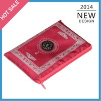 Wholesale pieces colorful islamic prayer mat worship carpet compass in cheap price fast delivery by DHL