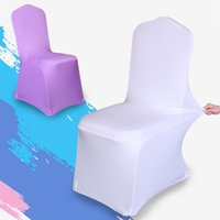 Wholesale Universal Stretch Polyester Spandex Wedding Party Chair Covers for Weddings Banquet Hotel Decoration Decor Colors Available