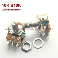 Wholesale Duplex Potentiometer stereo K B10K mm actuator length WH148 side adjustment
