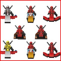aircraft games - RETAIL BOX Superhero Deadpool aircraft Building Block toy puzzle game Action figure Doll Minifigures educational toys child kid gift