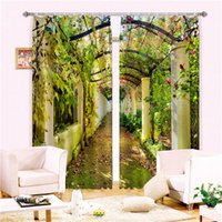 Wholesale Blackout Curtains D Curtain set for bedroom living room window hotel drapes summer floral tailor made Designer Luxury Modern