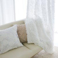 Wholesale Voile Curtains Yarn D Flower Jacquard Hollow Tulle Sheer Curtains For Living Room Bedroom Cortina Home Decor