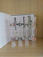 Wholesale Hot Nectar Collector mm Nectar Collector Water Smoking Pipe Bong Ash Catcher Ttitanium Vaporizer Gift Box Kit DHL