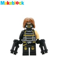 america gun - Winter Soldier Bucky with Double Guns Captain America SUPER HEROES Avengers Minifigures Assemble Building Blocks Kids Toys