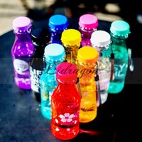 beverage cup lid - Fashion soda Kettle Bell Shaker Transparent Plastic Leakproof Seal Impenetrable ML water Bottle Portable beverage Cup In Summer M337