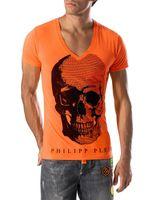 Wholesale 2016 NEW ARRIVE fit slim casual MENS print V SKULLS stone tshirts top quality CP5556