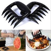 Wholesale plastic bear pow forks meat cutter seprate