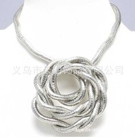 bendy necklace - Silver bendy snake necklace diameter mm length cm quot