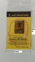 Wholesale 2016 hot product real work k gold anti radiation sticker enery sticker Shield Radiation certificated by Morlab lotfree shoping