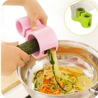 Wholesale 1 pc Stainless Steel Plastic Spiral Twister Vegetables Cutter Colors Multifunctional Double Using Vegetable Cutter Grater