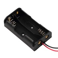 Wholesale NEW AA Battery Storage Case Plastic Box Holder with Cable Lead for x AA V Battery Soldering Connecting Black