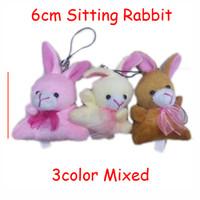 bag with monkey keychain - Bulk cm Cartoon Bunny With Scarf Plush Rabbit Pendants Toys Dolls For Keychain Bouquet Phone Bag