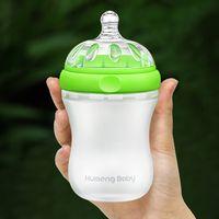 Wholesale Kumeng Baby Imitation Breast Real Feeling Extra Wide Caliber Silicone Baby Bottle