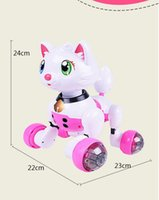 Wholesale Electronic Pet Intelligent Educational Voice activated Robot Kitty Poppy Cat Toy Kid Boy Girl Children Power driven Cat Gift