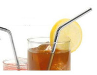 Wholesale Stainless Steel Bend Drinking Straw ECO Friendly Beer Fruit Juice Straw with CE EU FDA for Bar Kitchen