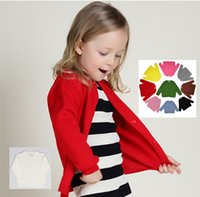 Wholesale 2016 New cute colors kids cotton Cardigan for girls Sweaters long Knitting Sweaters cardigan for winter spring EMS DHL