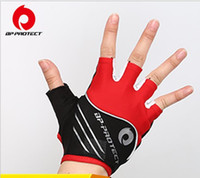 Wholesale Cycling gloves Leica wear resisting breathable reflective perspiration damping devices sport bike ride half gloves