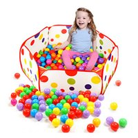 Wholesale Kids Portable Polka Dot Hexagon Ocean Ball Pit Pool Playhuts Outdoor Indoor Childrens Toy Tent M