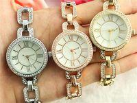 arab bracelets - Luxurious Latest fashion quartz Women watch Rome digital surface shell Clock dial Arab Rhinestone Set Bracelet Quartz Watches