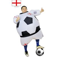 airblown halloween costumes - England Halloween Football Fun Player Costume Men Women Inflated Outfits Airblown Funny Sports Costume Party Club Festival Suits mascot