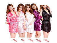 Wholesale 2016 Hot Women Fashion Classic Bathrobe Pure Role playing Sexy Lingerie Wild Temptation Sleep Wears Best Deal