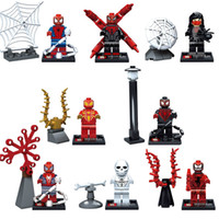 Wholesale SY281 Building Block Super Heroes Avengers Spider man Minifigures Spiderman Spider Man Bricks Mini Figures Children Toys