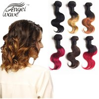 Cheap Angel Wave Hair Products Hot Selling Brazilian Hair Short Body Wave Ombre Hair Extensions 1B Burgundy 1B 27 1B 30 Color