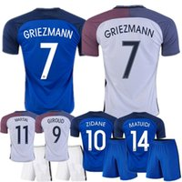 Wholesale EURO Franced kits jersey Home Away Maillot De Foot Football Shirt Franced kits Soccer Jerseys