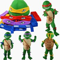 Wholesale Color free combination Teenage Mutant Ninja Turtles mascot costume one body with four colors fancy dress adult size EPE party