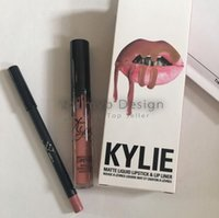 Wholesale Kylie Lip Kit by kylie jenner Velvetine Liquid Matte Lipstick Lip Pencil Lip Gloss Set colors