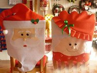 Wholesale drop shipping Christmas Decorations Santa Claus Chair Covers Table Decorations Christmas Decoration Supplies Happy Christmas