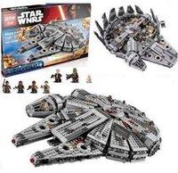 Wholesale 1381 unids Star Wars LEPIN halcón milenario figura juguetes bloques marvel minifigures niños juguete Compatible con legoe
