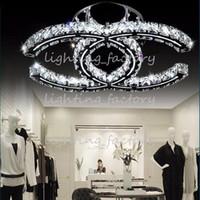 Precio de Montaje en el techo accesorios de iluminación-LED 5w 18w 35w lámparas de cristal modernas llevado pendiente de la luz ámbar plata ras techo lámparas de montaje 110-240V para la sala