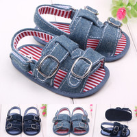 Wholesale Soft and comfortable baby denim shoes before walking for summer