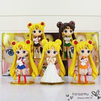 big pluto - 5 Styles High Quality Sailor Moon Q Posket Queen Jupiter Venus Pluto Action Figure Toys Collective Dolls quot cm