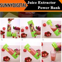 Wholesale 380ML Mini Juice Extractor Portable Electric Fruit Juicer Vegetable Citrus Blender Ice Crusher Battery Supply Power Bank Outdoor Easy Take